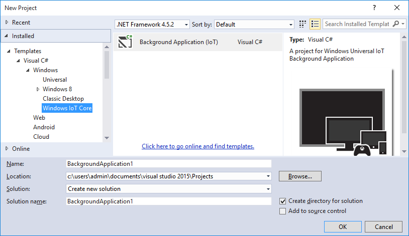 Windows iot core project templates visual studio marketplace visual basic maxwellsz