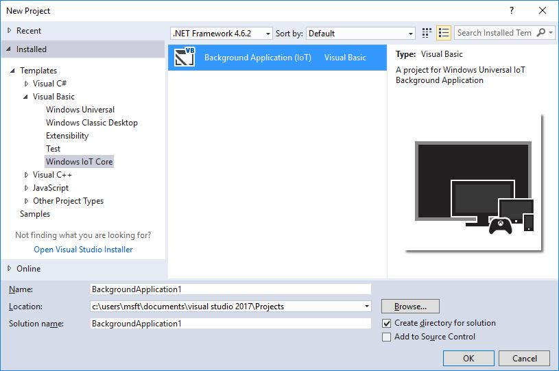 Windows IoT Core Project Templates for VS 2017+ - Visual